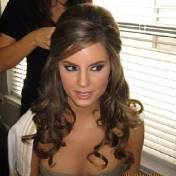 Wedding hair.. But pulled off to the side so it's not on my neck.
