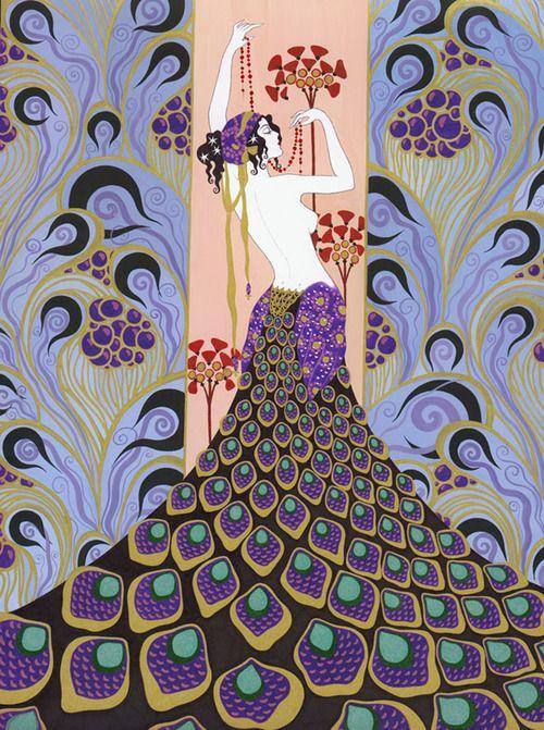 La Contessa | Erte- russian born french artist and designer who created art, fashion, jewelry and more: