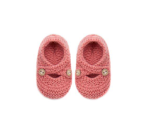 ZARA - MINI - Chausson bébé tricot
