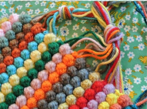Bobble Crochet goes back to Nana's time but has never gone out of fashion!  This gorgeous Rainbow Bobble Blanket is just one of several fabulous FREE Patterns.