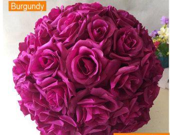Bola de flores TEAL. Turquesa bola de besos. por KimeeKouture