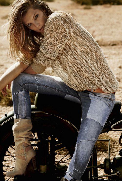 modelta:  Stefanel:S/S 2012AdCampaignDaria Werbowy by Mario Testino