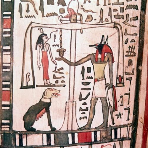 The Weighing The Heart Ceremony The God Anubis With Images