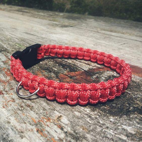 Perro: Collares - Collar paracord personalizado - hecho a mano por Letsbag en…