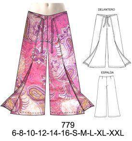 779 Pantalon Pareo Amarrado Tallas S M L Xl Tela Crepe Seda Lino Consumo 2 15 Metros Sewing Dresses Dress Sewing Patterns Crochet Baby Girl Dress