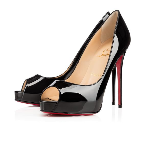 christian louboutin replica heels - NEW VERY PRIVE VERNIS 120 Noir Cuir de veau vernis - Souliers ...