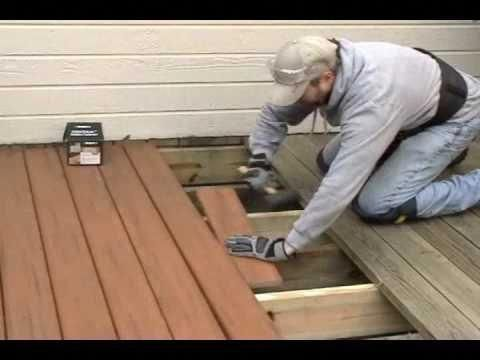 Extreme How To Deck Rebuild Replacing Old Wood Planks With New Composite Decking Onto Existing Structure Keeping Building A Deck Diy Deck Composite Decking
