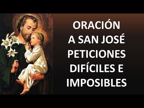 Oración A San José Para Peticiones Difíciles Imposibles Y Urgentes Oracion Y Paz Youtube Oraciones Libro De Oraciones Oracion De San Francisco