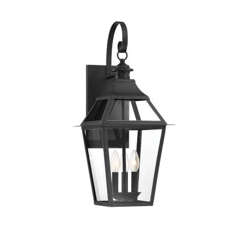 Savoy House Jackson Black And Gold Highlighted Three Light Outdoor Wall Mount 5 722 153 In 2020 Outdoor Sconces Wall Sconce Lighting Outdoor Wall Sconce