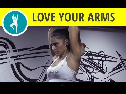 Triceps workout with dumbbells: tone your underarm flab with standing triceps extension