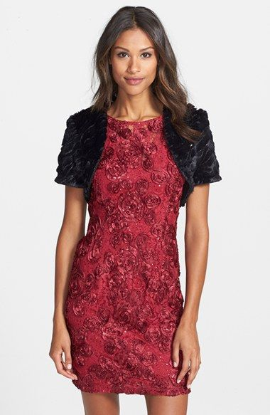 Marina+Sequin+Faux+Fur+Bolero+available+at+#Nordstrom