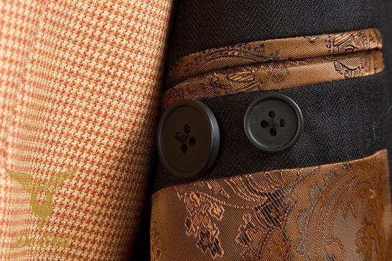 Herringbone Jacket: Black Herringbone 1/4 inch - Holland & Sherry HS1260 - Intercity 601004