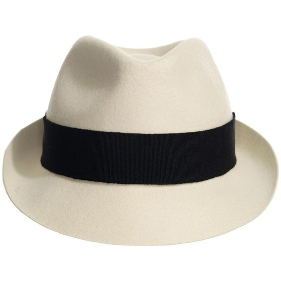 Fabio Short Brim Trilby Hat found on Polyvore