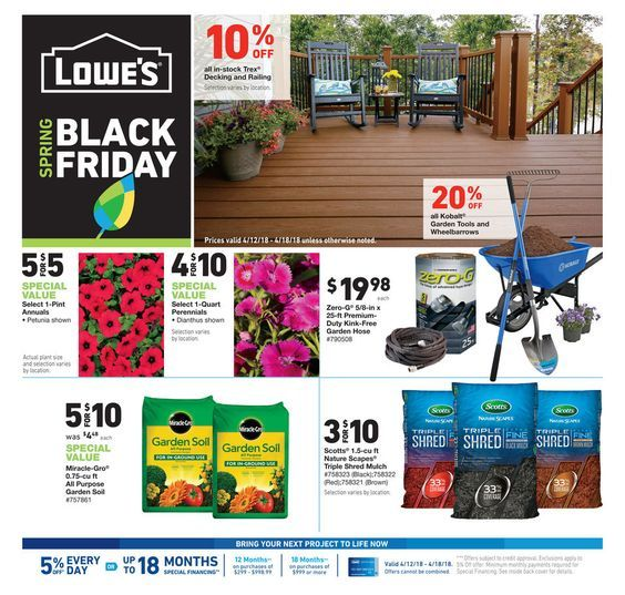 Lowe S Spring Cyber Monday 2019 Sale Best Spring Cyber Monday Lowes Deals Black Friday Black Friday Images Spring