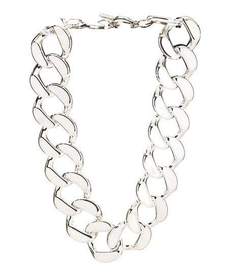 Silvertone Link Necklace   zulily