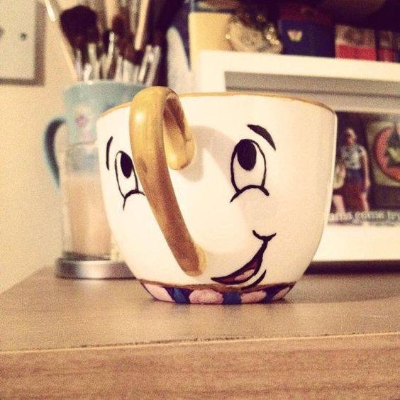 Chip Teacup inspiriert durch die schöne und das von BeOurGuestGifts