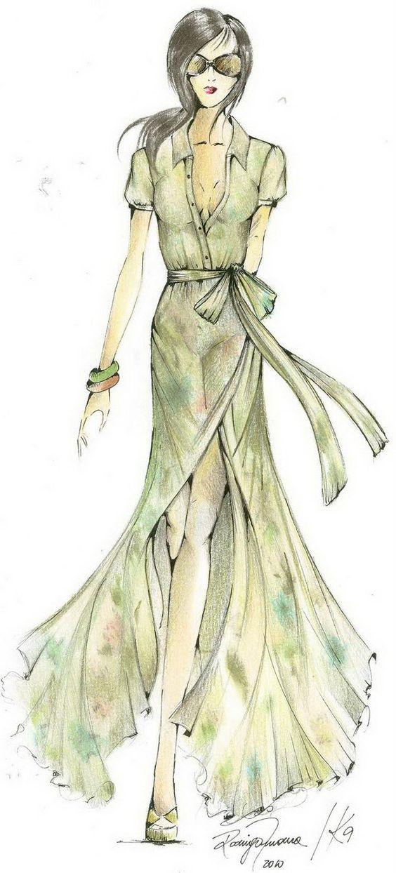 Fashion Croqui Sketches.
