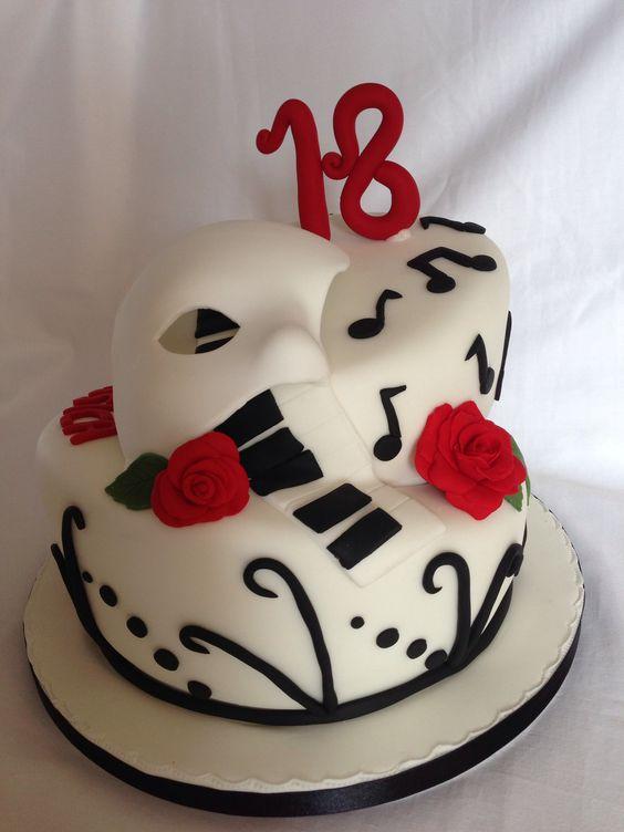 Resultado de imagen de phantom of the opera cake