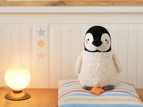 Pinguin Spieluhr, weiß von Petiti Panda auf DaWanda.com