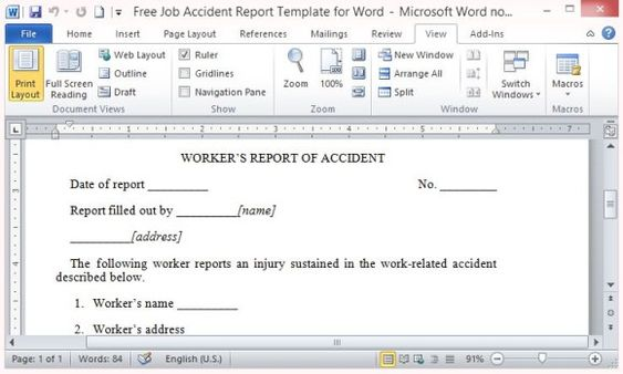 Student Report Maker Template for Word Word Templates - microsoft word template report