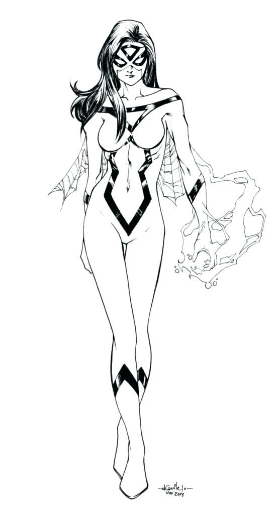 Spider Woman Coloring Pages Spider Girl Coloring Pages Download