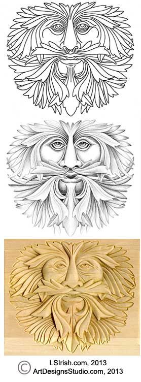 Green man carving and woodcarving on pinterest