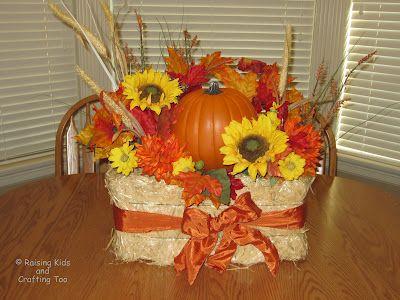 Decorative Fall Hay Bale