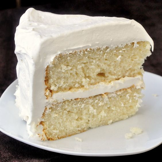 Plain Vanilla Cake: It May Look Plain But If You Are A Vanilla Fan, This Cake