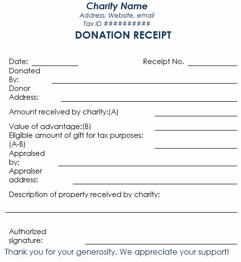 Printable Donation Form Template Best Of Donation Receipt Template 12 Free Samples In Word And Excel Receipt Template Letter Template Word Donation Form
