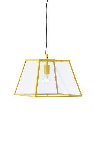Rektangulär taklampa i glas och metall, som ger ett behagligt ljus ... : taklampa metall : Taklampa