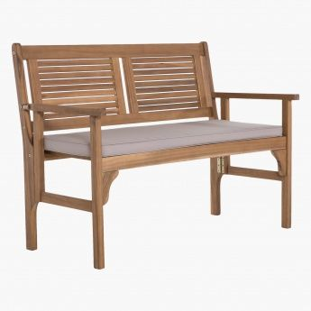 Lazy Saturday Folding Bench Folding Bench Brown Wood Contemporary Bench
