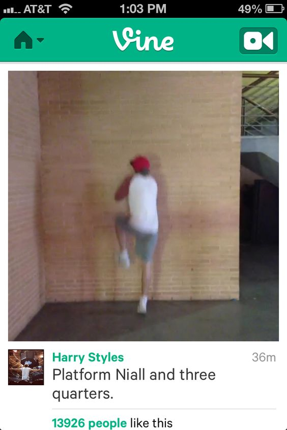 Hahaha I have always wanted to run up to the wall where that happens, just because I do things like that this is absolutely... If someone needed an explanation of who exactly Niall James Horan was this would be one of the pictures I would show them.