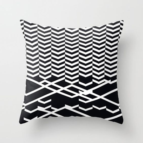 modern-graphic-black-white-pillow Typography, Dairy and Classic