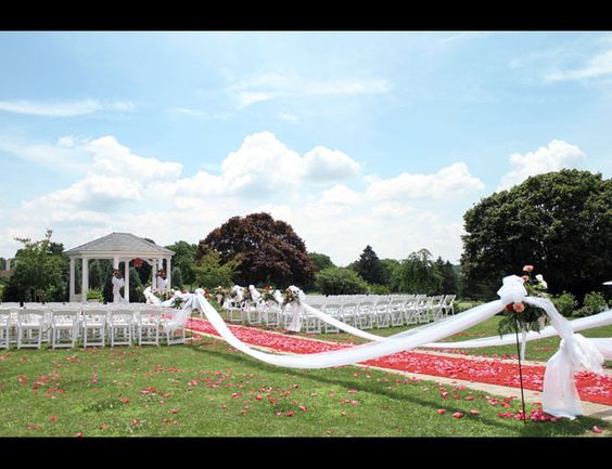 Outdoor wedding ceremony - Penn Oaks Golf Club, West Chester, PA