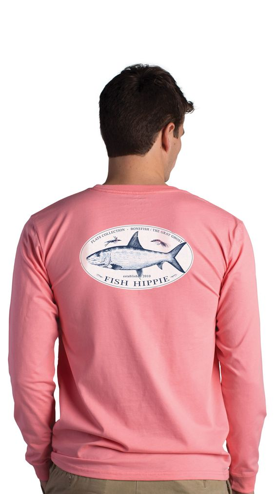 Fish Hippie Flats Grey Ghost Long Sleeve T-Shirt