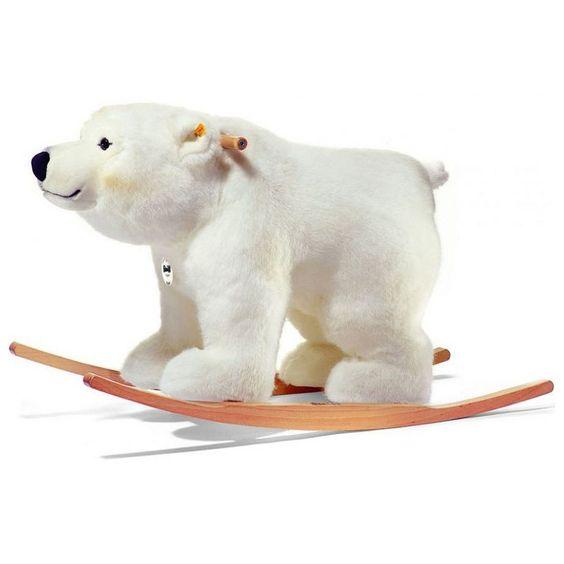 steiff arco polar ice bear rocking horse baby nursery cool bee animal rocking horse