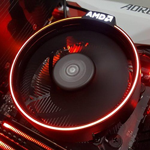 AMD Wraith Spire RGB LED Light Socket AM4 4-Pin Connector CPU Cooler With Copper Core Base /& Aluminum Heatsink /& 3.81-Inch Fan