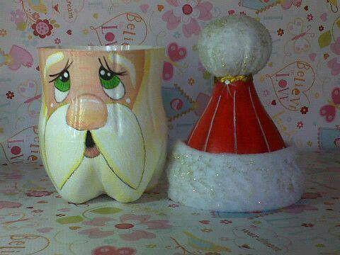 Santa made from 2 liter soda bottle | Crafts | Pinterest | Bottle ...