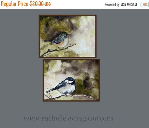 Art gift under 20 Bird wall decor Bird wall by rachellelevingston