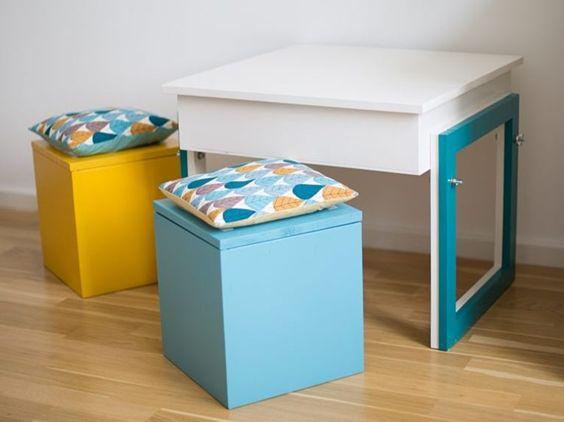 Sitzkissen, Verschlüsse and Kinderzimmer on Pinterest