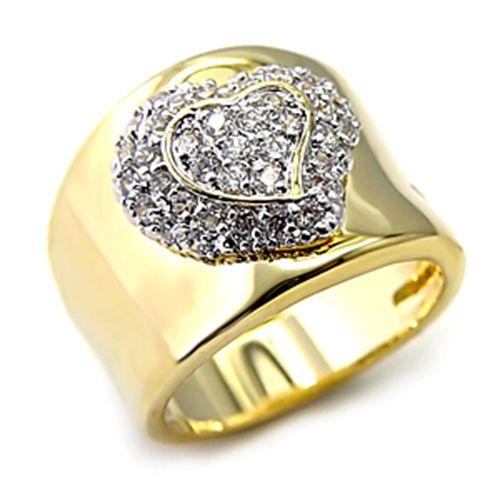 Bague luxe plaqué or 18k femme mode chic serti zirconium diamant