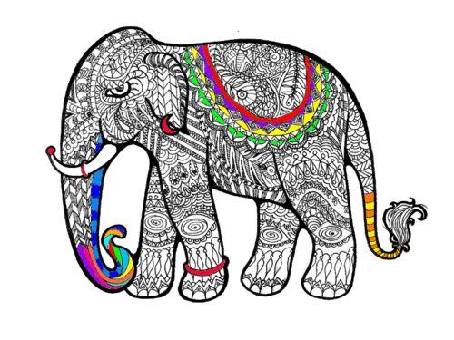 coloring elephant