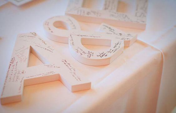 letter standee decor guest book
