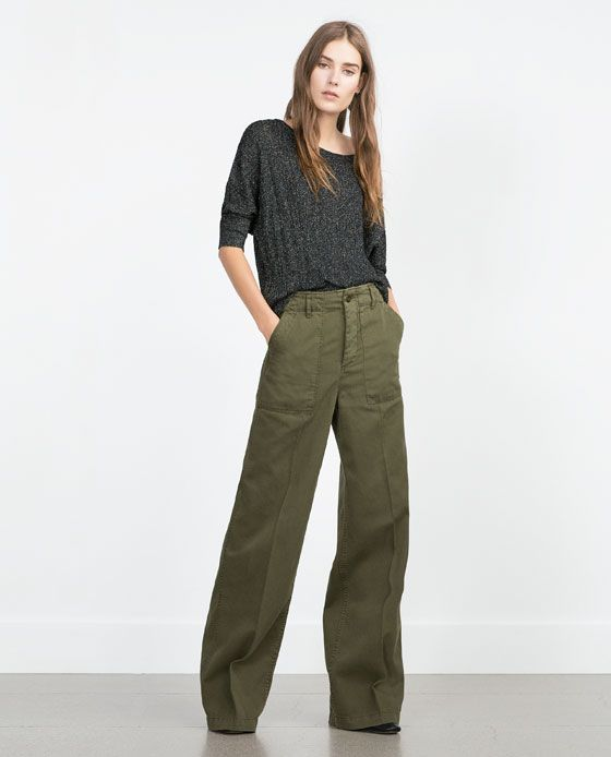 zara femme pantalon large