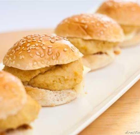 Receta de mini hamburguesas de garbanzos