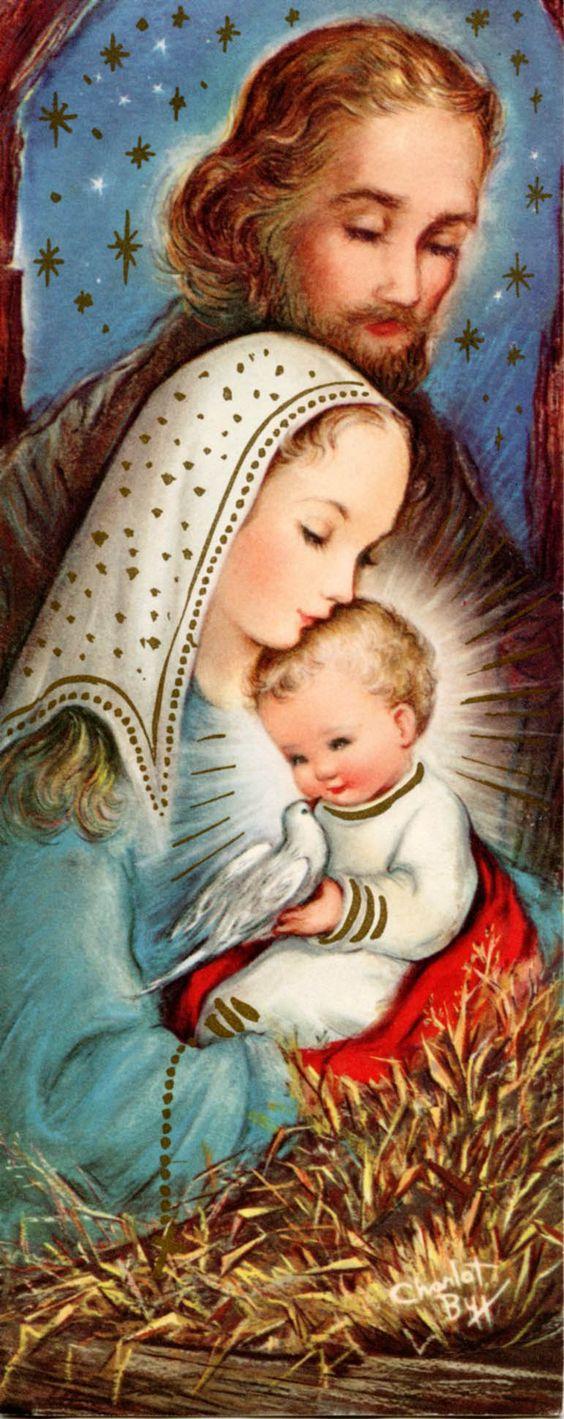 1940s Vintage Charlot Byj Christmas Card: