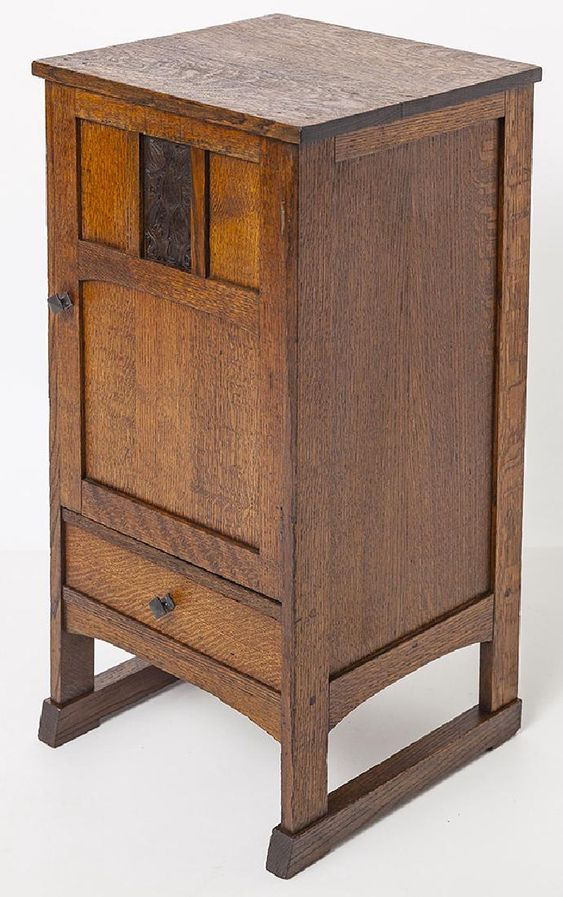 Arts & Crafts Cabinet With Shoe Feet