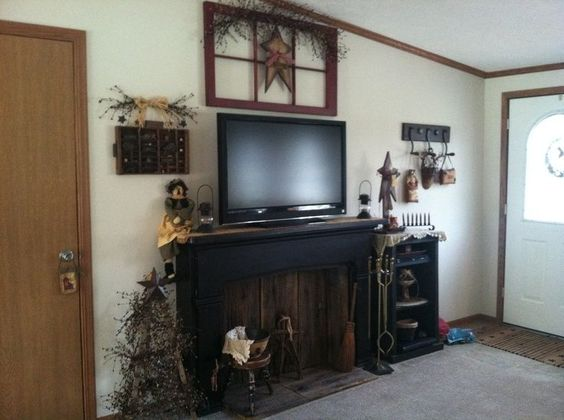 Mantels, TVs and Decorating ideas on Pinterest