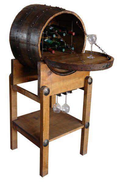 Barrel Furniture Half Barrel Wine Rack Barrel Bar