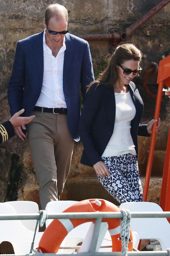 William and Kate prepare to leave Trescoon 'Pegasus' during a visit to Cornwall and the Isles of Scilly